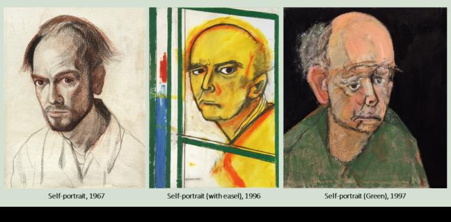William Utermohlen self-portraits 1967, 1996, 1997