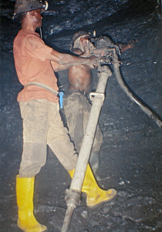 Drilling in a mine