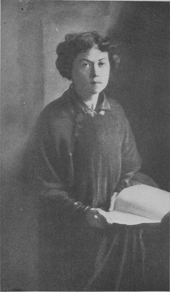Black and white portrait of Kollontai