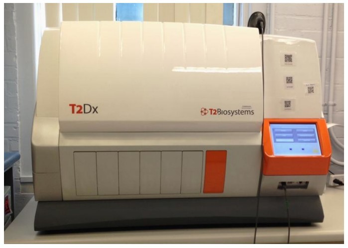 T2 magnetic resonance machine within a lab