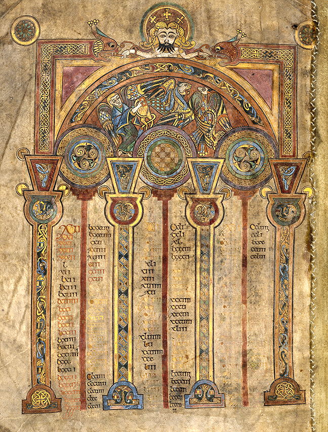 folio 2v, from the Book of Kells, a canon table