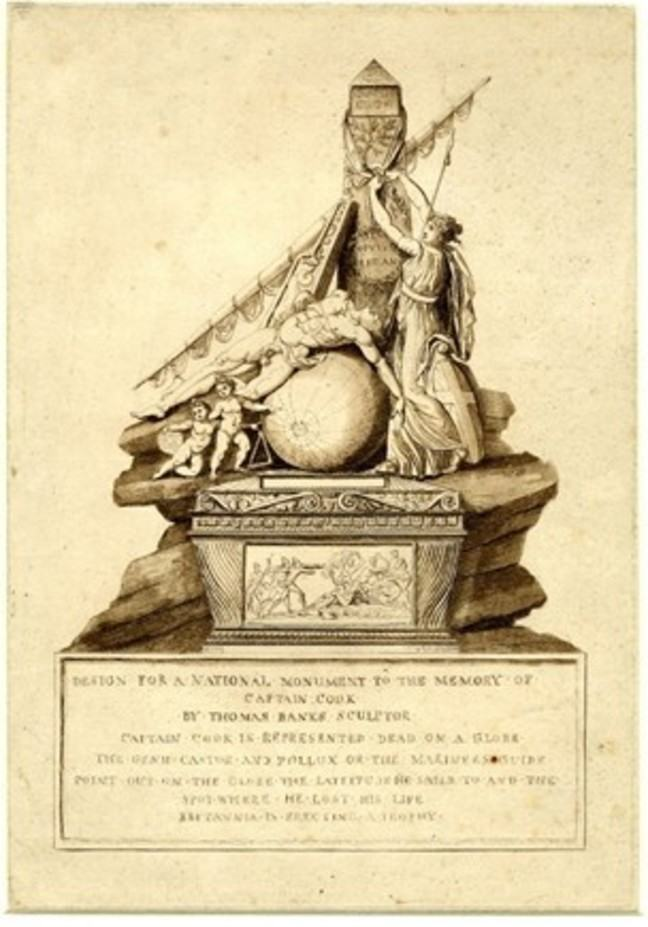 Design for a national monument to the memory of Captain Cook