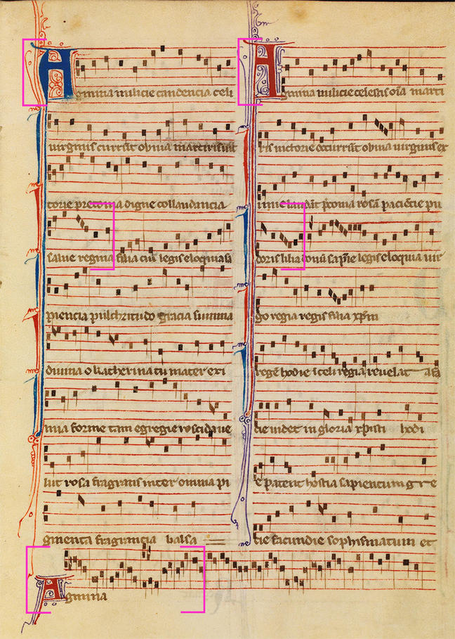 Excerpt of the motet Agmina milicie