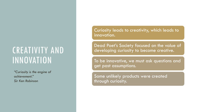 An image representing various factors that contribute to creativity and innovation