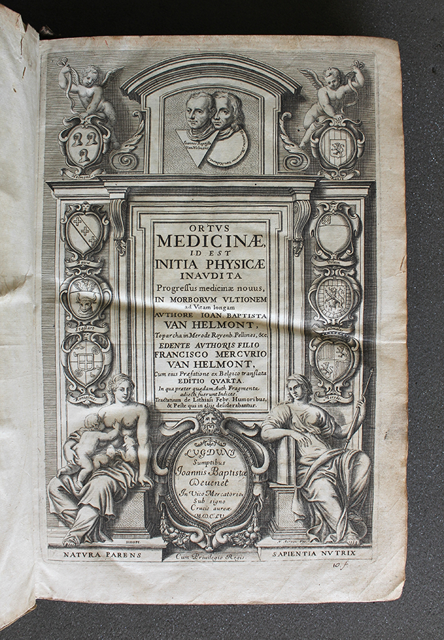 A page from Jean Baptist van Helmont, *Ortus Medicinae* (Lyon, 1655). Title page. © The Trustees of the Edward Worth Library, Dublin.