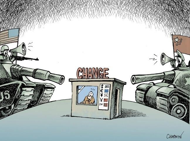currency war by cartoonist Chappatte
