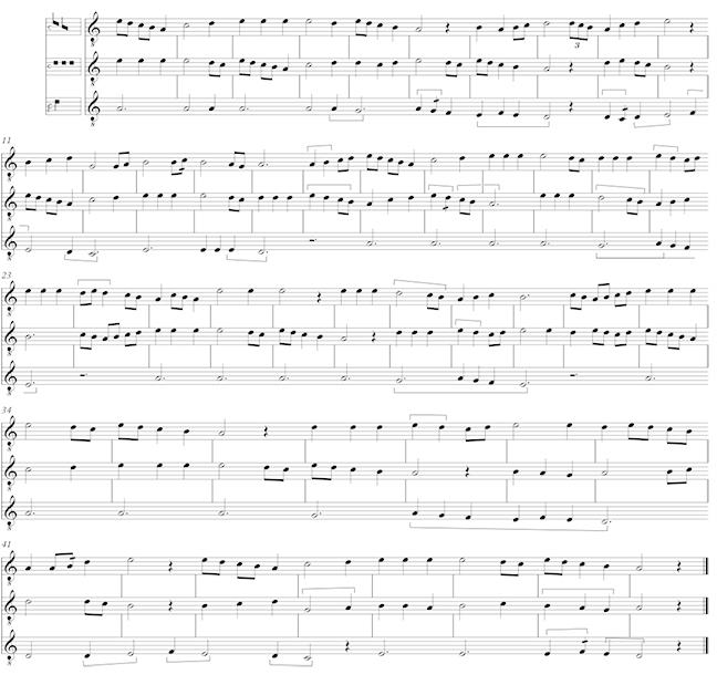 Transcription of the motet S'on me Regarde