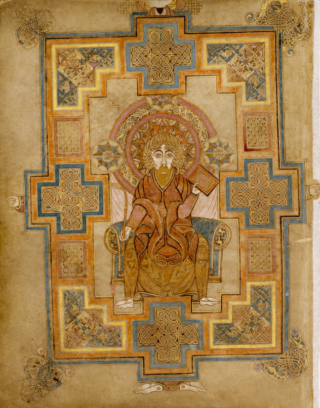 figure 1. the image of St John from the Book of Kells