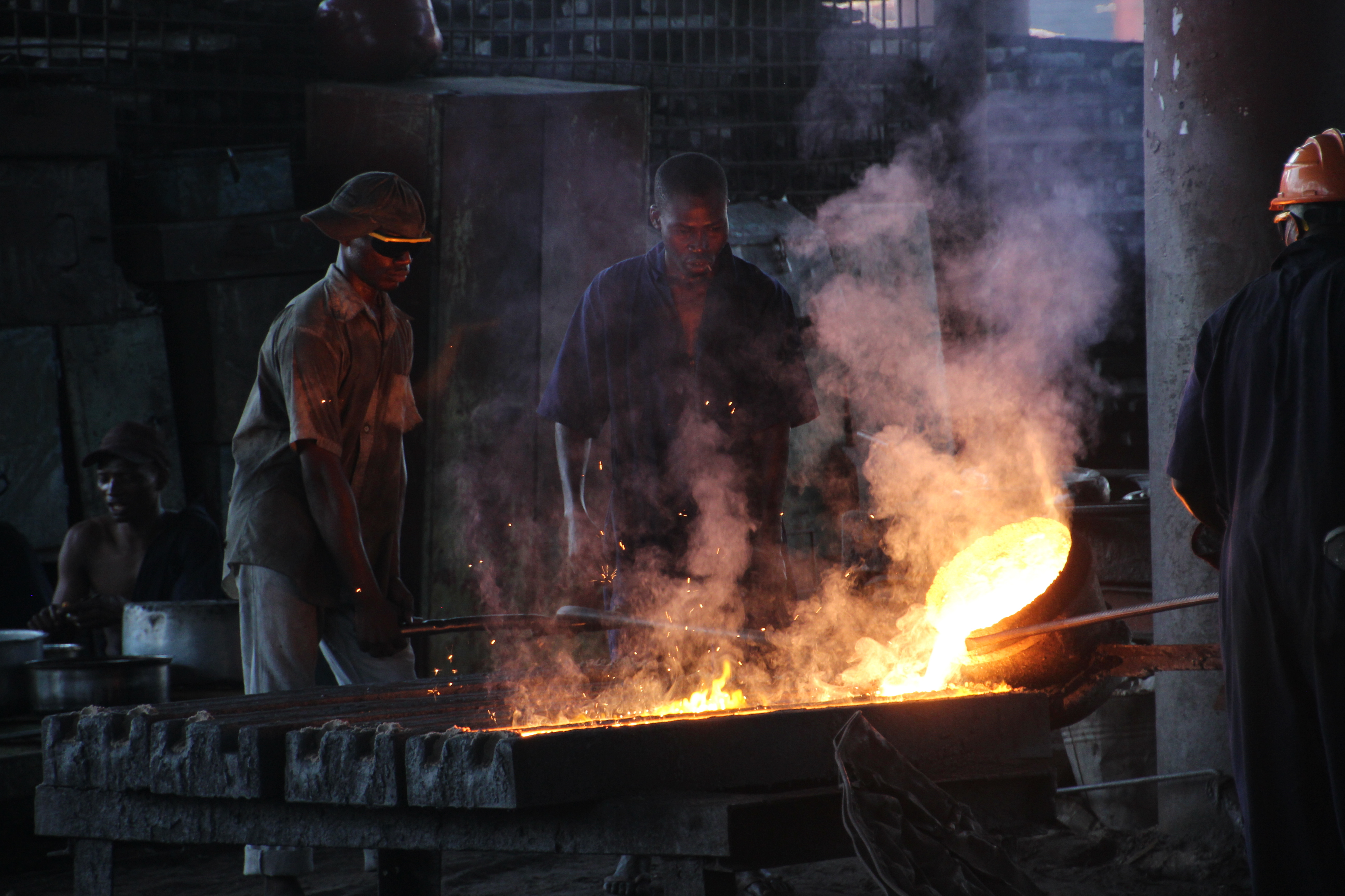 Workers in a smeltery