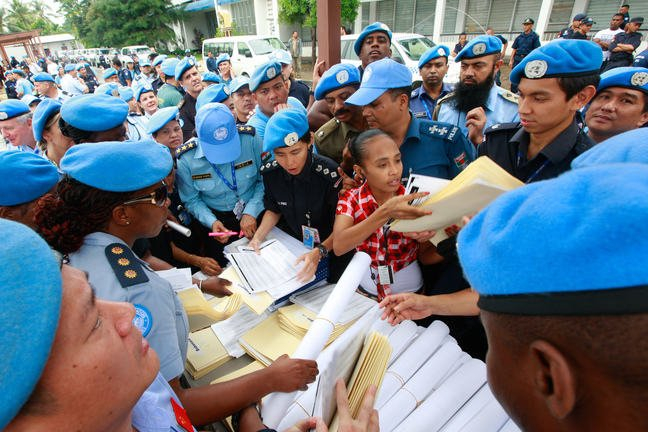 UN and Timor Police Prepare for Presidential Elections. Credit UN Photo/Martine Perret