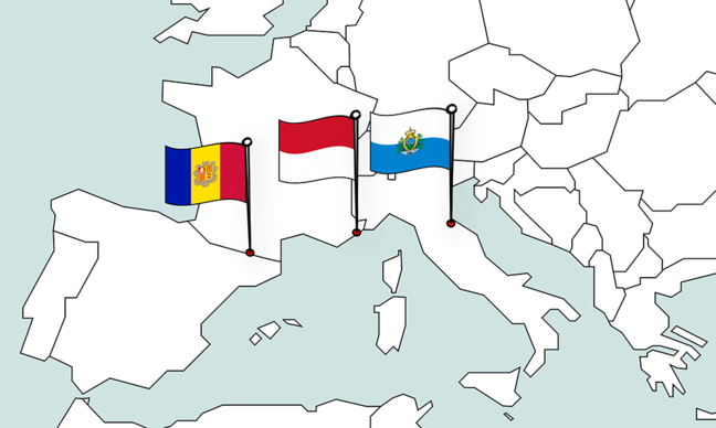 Map with the three AMS States