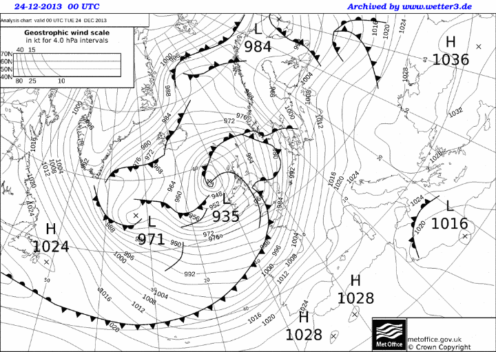 Black and white weather map