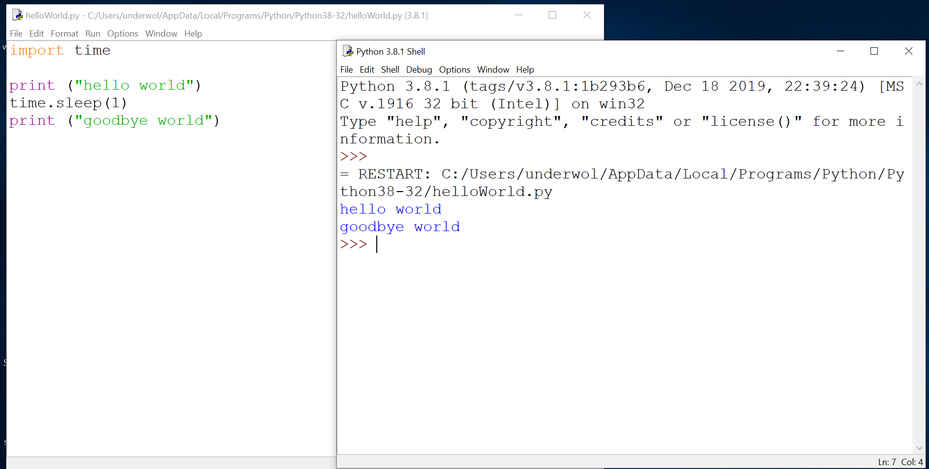 Image of Python coding Raspberry Pi