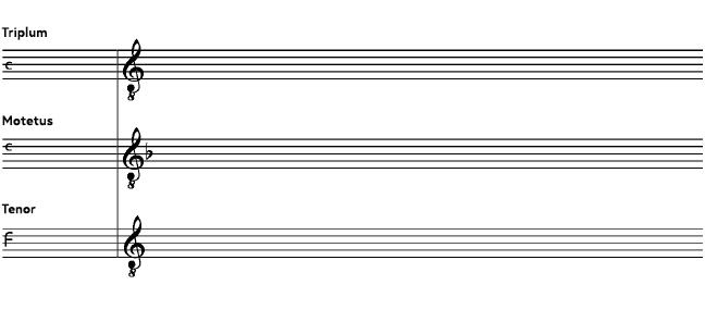Beginning of a a five-line staff paper with place for incipit and transcription