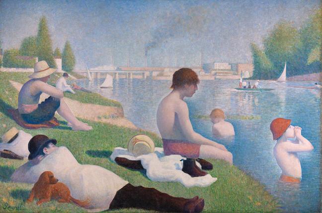 Bathers at Asnieres Seurat