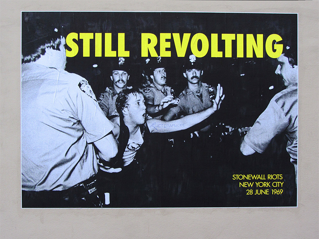 Poster that shows a rioting scene