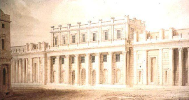 A drawing of the Bank of England facade