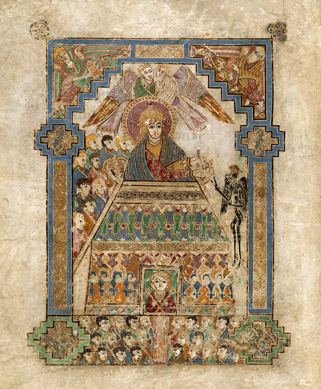 figure 1, from the Book of Kells, a depiction of the Temptation of Christ