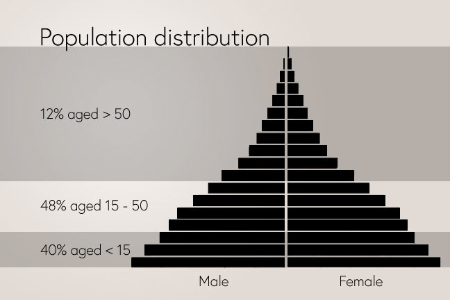 Population Distribution Showing Age and Gender