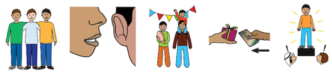 symbols representing planning a party message