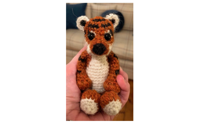 Crochet tiger