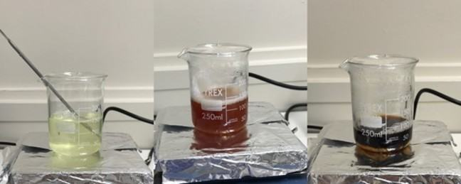 Photos from lab experiment
