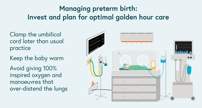 Summary list of ways to prevent preterm birth at delivery