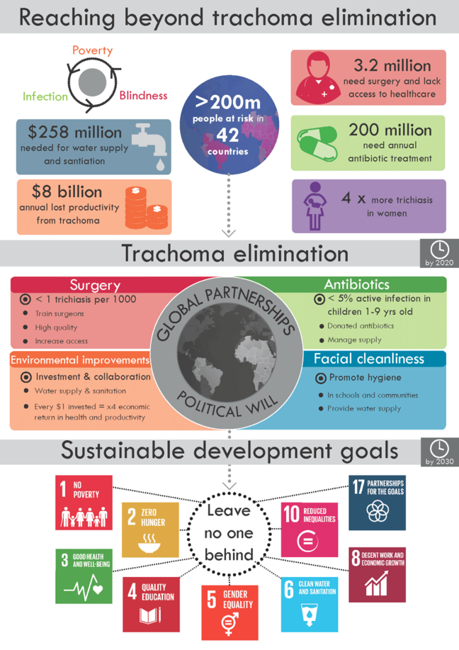 Infographic relating the SDgs to trachoma elimination