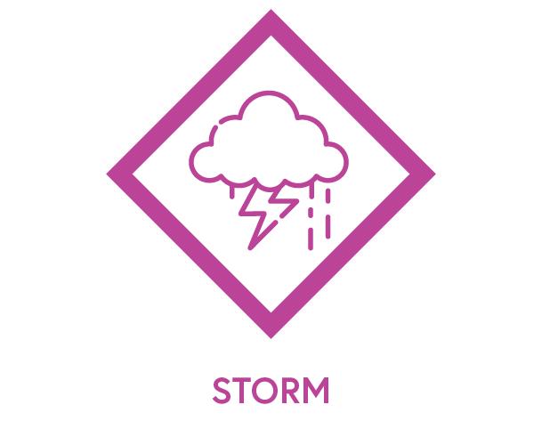 Symbol to show storm