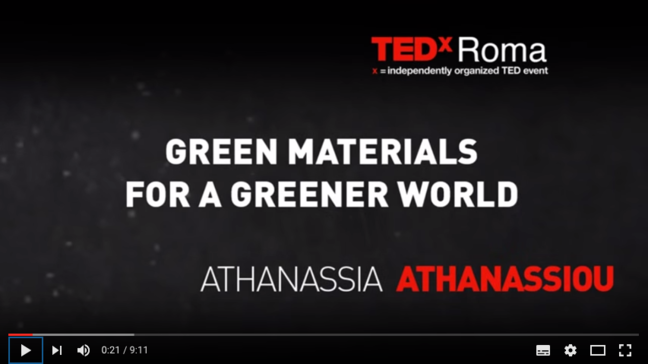 Green materials for a greener world: Athanassia Athanassiou at TEDxRoma