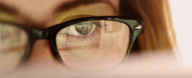 Screen reflected in glasses – Getty Images