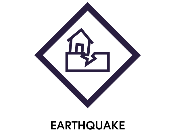 Symbol to show earthquakes