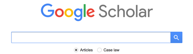 A google scholar search bar