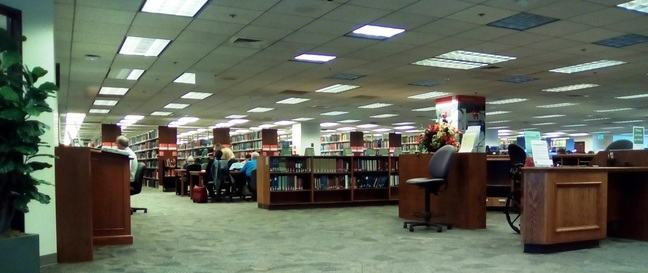 US Book floor at the Family History Library