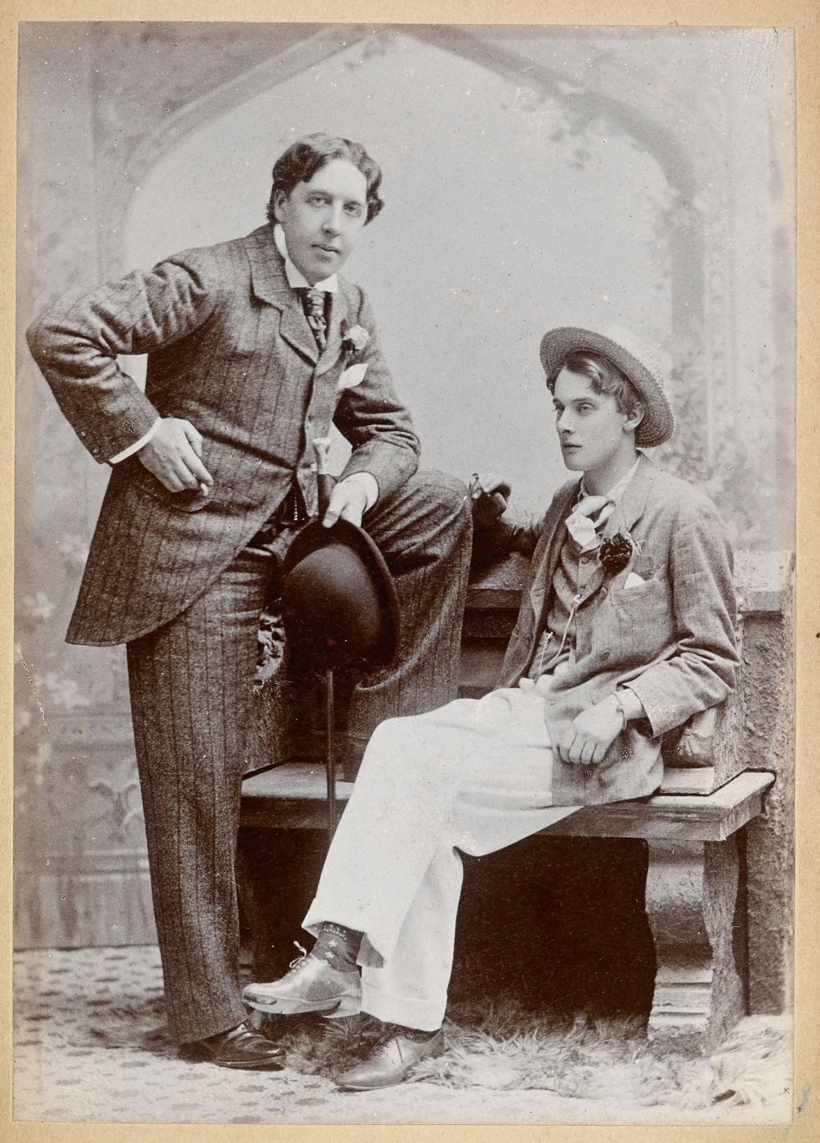Oscar Wilde and Lord Alfred Bruce Douglas, May 1893. Photograph by Gillman & Co.