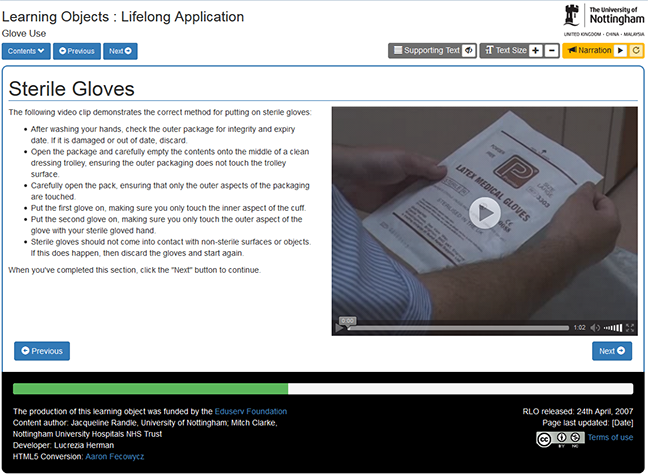 Screen shot of a short video or instruction