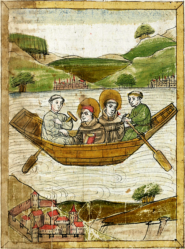 fig 3, a painting of St. Columbanus and St. Gall on Lake Constance