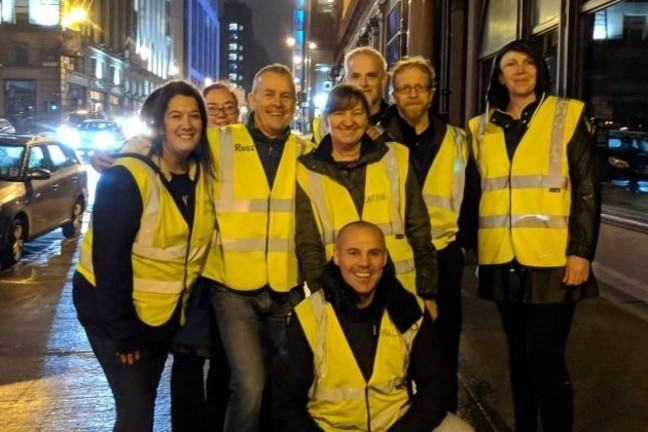 Humanist Society Scotland volunteers on the streets in Glasgow