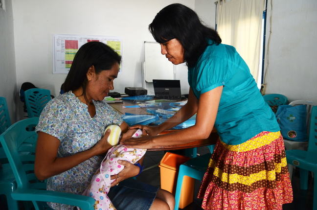 Health Alliance International (HAI) training for midwives in Timor-Leste.