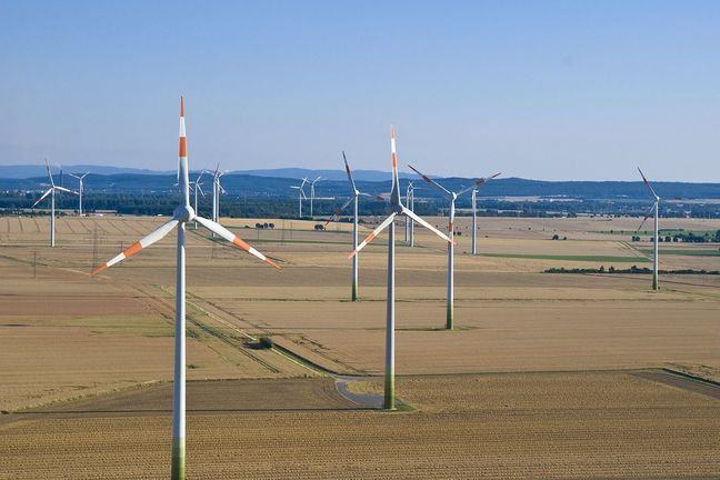 Windfarm in Lower Saxony, Germany