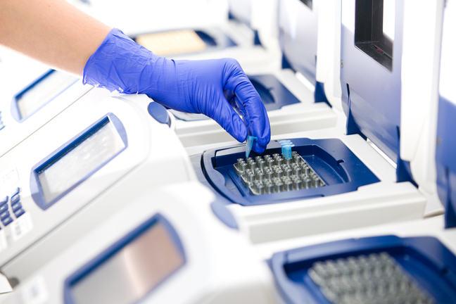 image of a PCR machine in a lab