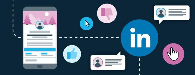 LinkedIn logo or LinkedIn user