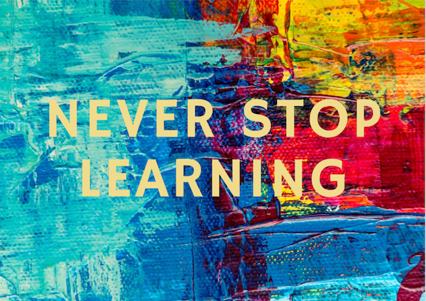 Never Stop Learning - Card