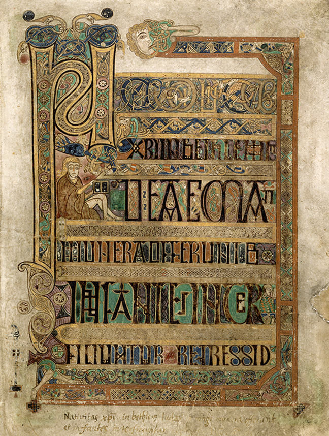 Figure 5, from the Book of Kells, an example of display script