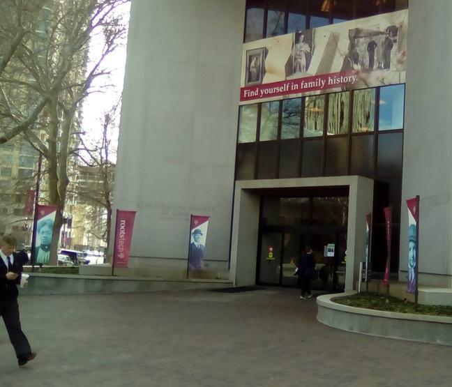Outside of Family History Library, Salt Lake City