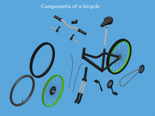Components of a bicycle - macrovector / Freepik