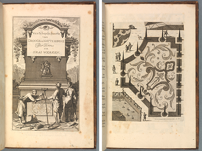 Tracktaat der Lusthoff (Leiden, 1720), engraved half-title and plate opposite p.8. © The Board of Trinity College Dublin