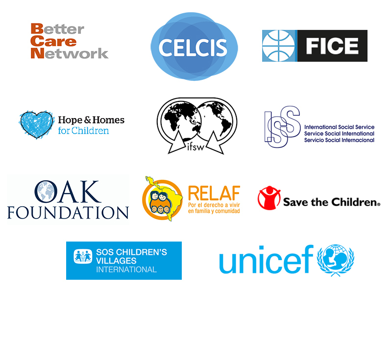 The Logos of The Working Group on Children without Parental Care