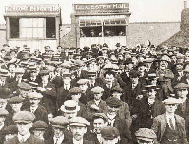 Fans watching Leicester City in 1920-21. Courtesy Leicester City Football Club