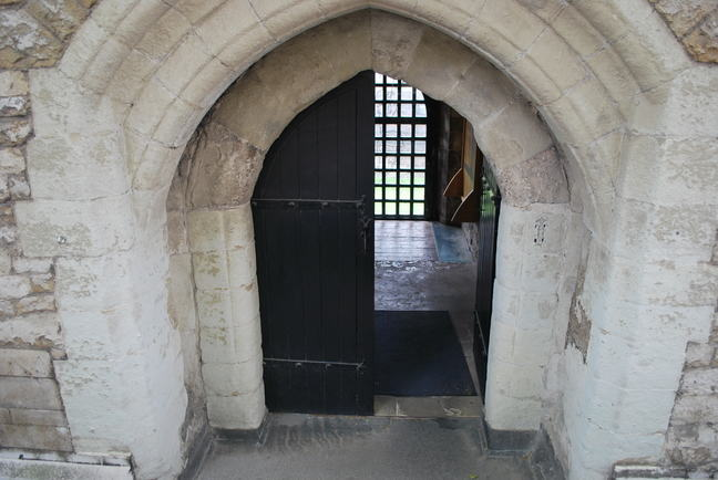 A photograph of a doorway to the Cradle Tower